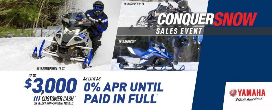 Yamaha - Current Offers - 2015-2018 Snowmobiles